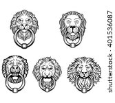 Lion Head Knocker Door Logo