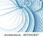 math lines series. intricate... | Shutterstock . vector #401541847
