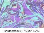 iridescent marbling texture.... | Shutterstock . vector #401547643