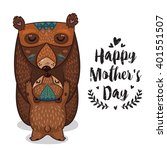 happy mothers day card in... | Shutterstock .eps vector #401551507