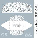 vector die cut envelope... | Shutterstock .eps vector #401551957