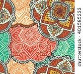 seamless pattern. vintage... | Shutterstock .eps vector #401585233