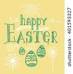 brochure flyer layout easter... | Shutterstock . vector #401593327