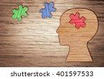 mental health symbol. human... | Shutterstock . vector #401597533
