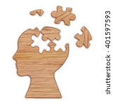 mental health symbol. human... | Shutterstock . vector #401597593