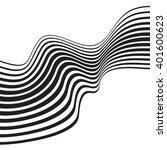 optical art background wave... | Shutterstock . vector #401600623