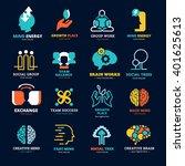 brain works team balance social ... | Shutterstock .eps vector #401625613