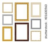 vintage realistic frame set in... | Shutterstock .eps vector #401630563