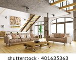 interior of modern living room... | Shutterstock . vector #401635363