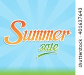 summer sale banner  inscription ... | Shutterstock .eps vector #401637643