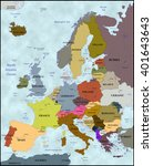 political map of europe | Shutterstock . vector #401643643