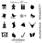christmas icon set. vector art.   Shutterstock .eps vector #401662477