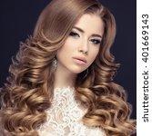 portrait of a beautiful woman... | Shutterstock . vector #401669143