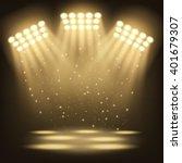 bright stadium spotlights...   Shutterstock .eps vector #401679307