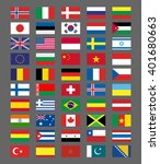 flags icons in flat style.... | Shutterstock .eps vector #401680663
