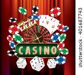 vector casino and gambling... | Shutterstock .eps vector #401687743
