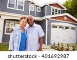 senior black couple standing... | Shutterstock . vector #401692987