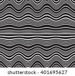 optical art opart striped wavy...   Shutterstock .eps vector #401695627