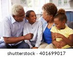 grandparents and their young... | Shutterstock . vector #401699017