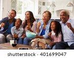 multi generation black family... | Shutterstock . vector #401699047