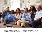 multi generation black family... | Shutterstock . vector #401699077
