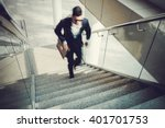Blurred Motion Of Businessman...