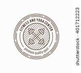 training concept fitness badge... | Shutterstock .eps vector #401712223