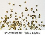 Golden Round Sequins Sewing On...