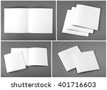 set of brochures on gray... | Shutterstock . vector #401716603