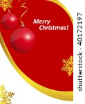 christmas holiday poster | Shutterstock .eps vector #40172197