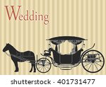 beautiful wedding carriage... | Shutterstock .eps vector #401731477