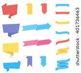 stickers and ribbons. set of... | Shutterstock .eps vector #401736463