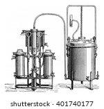 gasifier  vintage engraved... | Shutterstock . vector #401740177