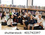 classroom learning mathematics... | Shutterstock . vector #401742397