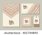 boho style collection of card ... | Shutterstock .eps vector #401744893