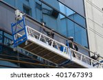 group of workers cleaning... | Shutterstock . vector #401767393