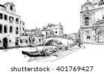 italy. venice. hand drawn... | Shutterstock .eps vector #401769427