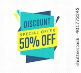 special offer sale tag discount ... | Shutterstock .eps vector #401773243
