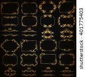 vector set of gold decorative...   Shutterstock .eps vector #401775403