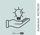 line icon  idea | Shutterstock .eps vector #401781133
