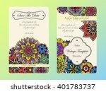 vintage card template. wedding... | Shutterstock .eps vector #401783737