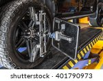 car wheel fixed with... | Shutterstock . vector #401790973