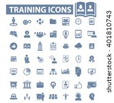 training icons  | Shutterstock .eps vector #401810743