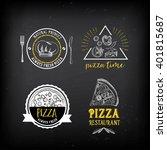 pizza menu restaurant badges....   Shutterstock .eps vector #401815687