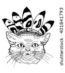 cat. funny cat. playing cat.... | Shutterstock .eps vector #401841793
