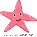 cute starfish cartoon | Shutterstock .eps vector #401851843