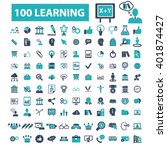 learning icons  | Shutterstock .eps vector #401874427