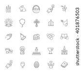 easter icons set. christianity... | Shutterstock .eps vector #401876503