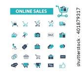 ecommerce icons  | Shutterstock .eps vector #401879317