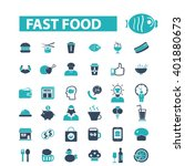 fast food icons  | Shutterstock .eps vector #401880673